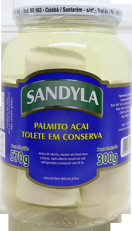 Palmito Acai Inteiro 300g Sandyla