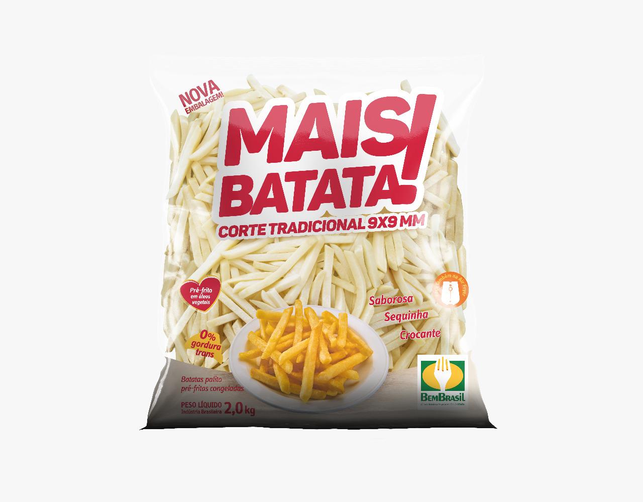 Batata Palito Congelada Mais Batata Bem Brasil 2,5kg