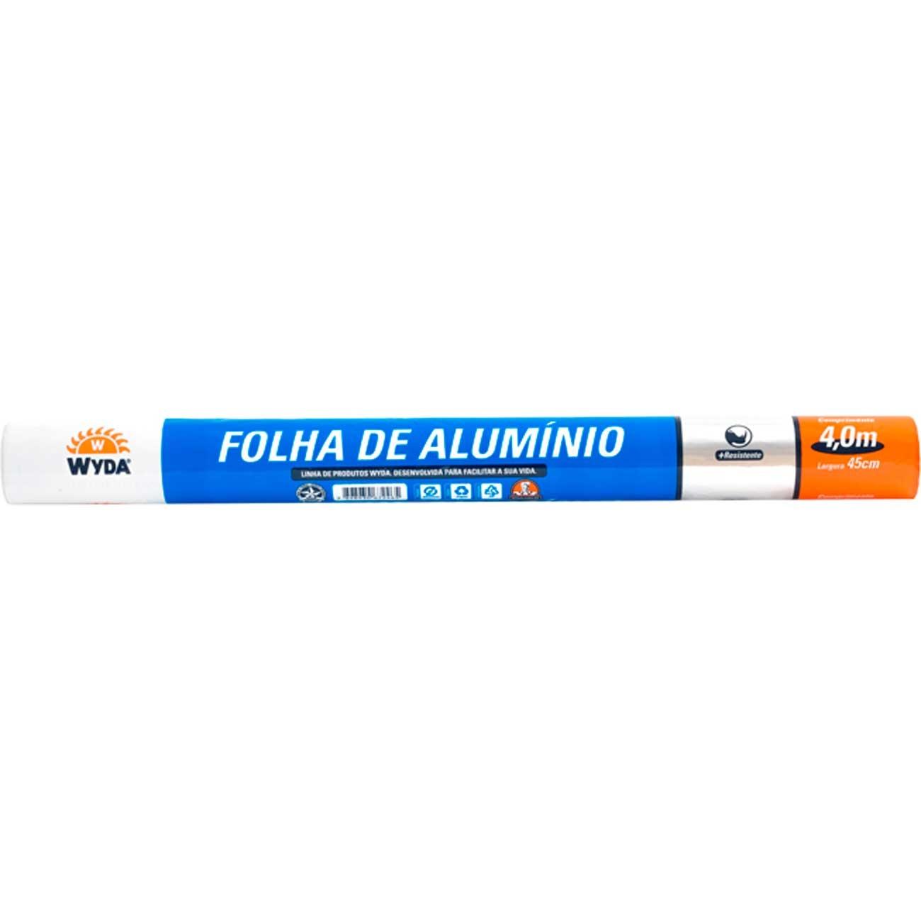 Papel Alumínio Wyda Rolo 4Mx0,45Cm