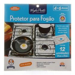 Protetor para Fogão Wyda Pratic Alumínio 4 e 6 Bocas 12Un