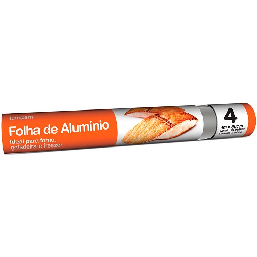 Folha de Alumínio Lumipam Embalagem 4Mx30cm