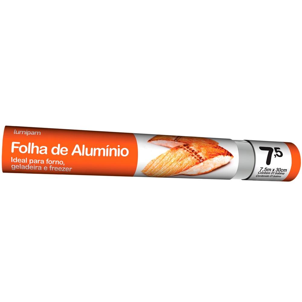 Folha de Alumínio Lumipam 7,5M X 30Cm Embalagem 1 Un