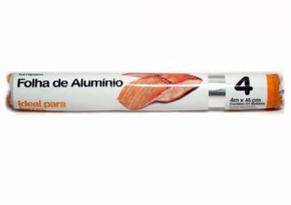 Folha de Alumínio Lumipam Rolo 4M X 45Cm