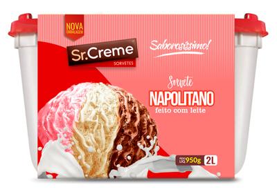 Sorvete Sr. Creme Napolitano Pote 2L