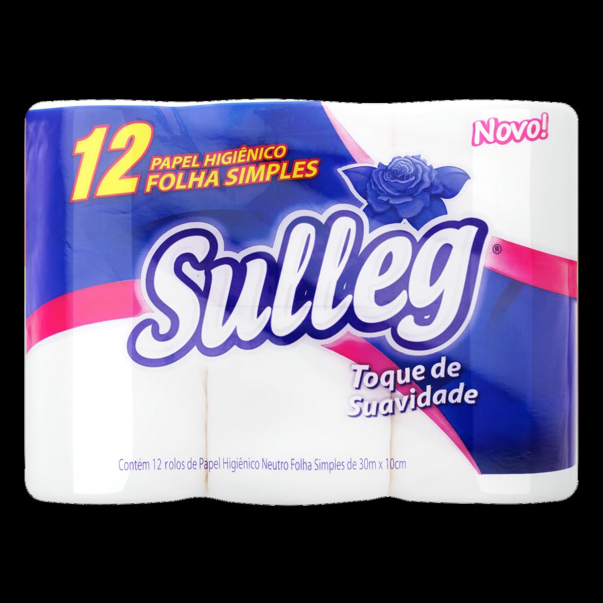 Papel Higiênico Folha Simples 30m Com 12 Rolos Sulleg