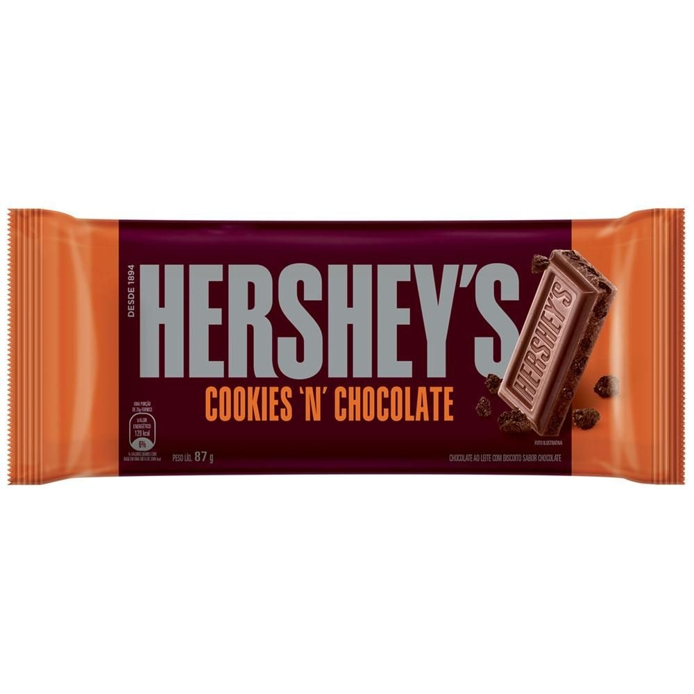 Chocolate Ao Leite Cookies N Chocolate Hershey S Pacote 87g