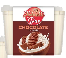 Sorvete Massa Nobrelli Duo Nata e Chocolate 1,8 Litros